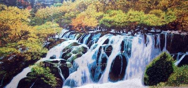 jiuzhaigou waterfall
