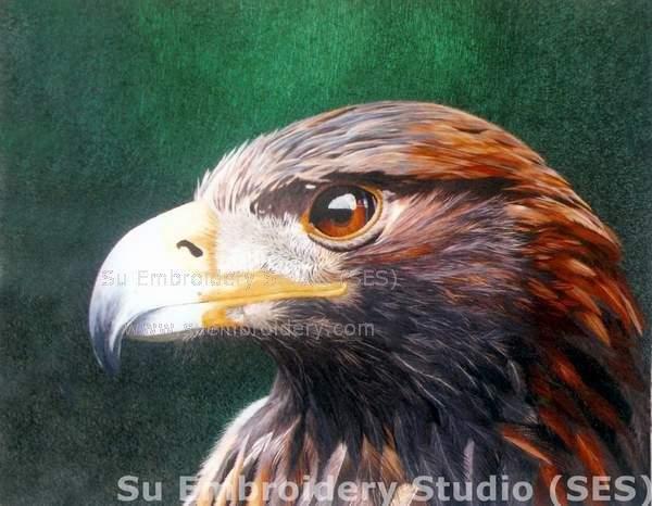 silk embroidery Eagle