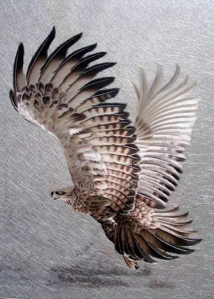 thread painting Eagle