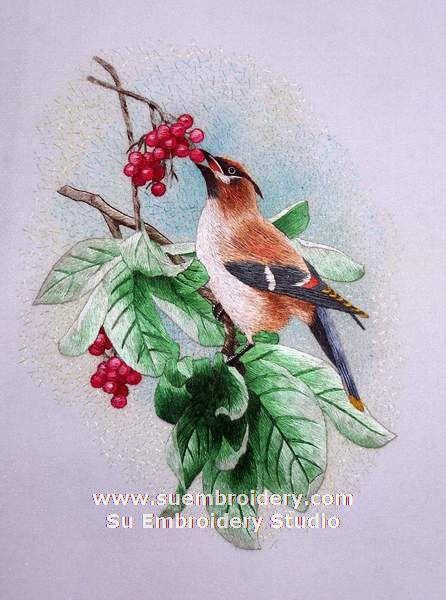 hand embroidery bird