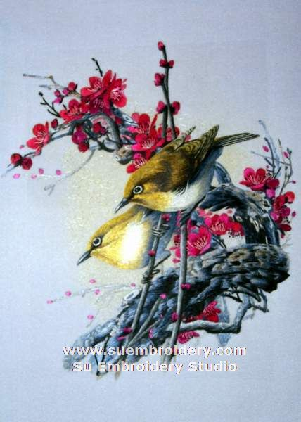 Chinese Silk Bird Embroidery Art  Embroidery Blog Of Su