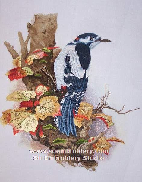 su embroidery bird