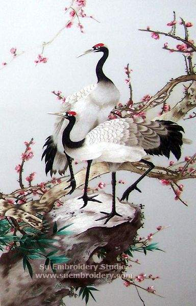 suzhou embroidery crane art