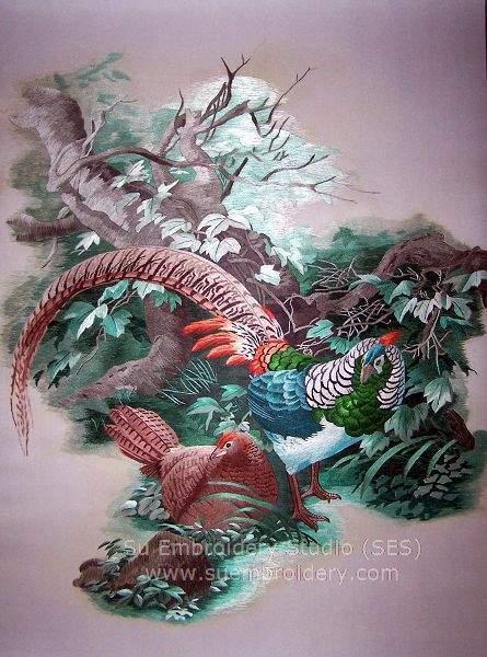 suzhou embroidery pheasant