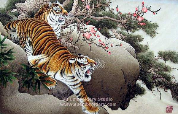 embroidery tiger picture