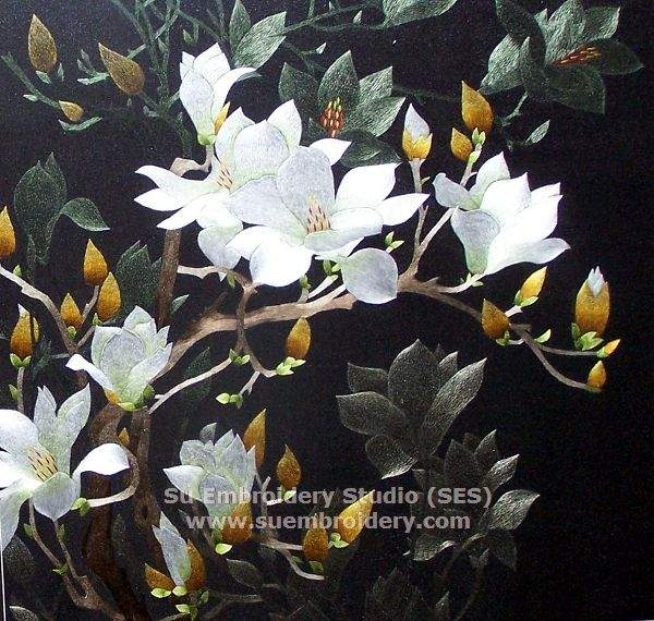 chinese embroidery magnolia