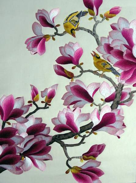 magnolia embroidery