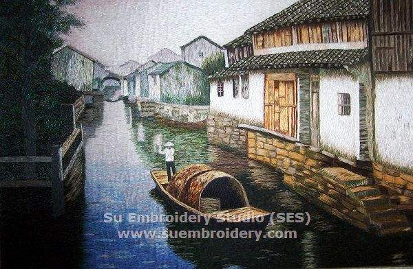 water town Suzhou embroidery