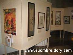 Chinese embroidery art, silk painting hand embroidered