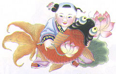 Chinese handicraft - Folk Woodblock Picture