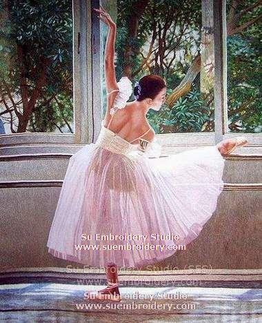 ballet dancer embroidery art