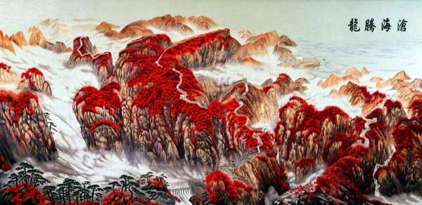 chinese landscape embroidery