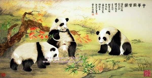 panda embroidery