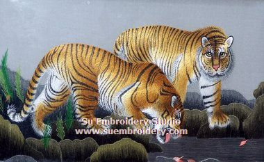tiger embroidery