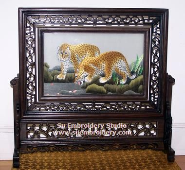 leopard embroidery