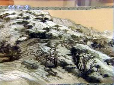 silk embroidery scenery of the fuchun mountain