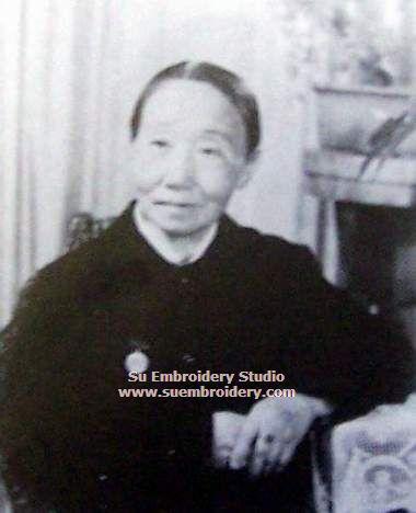portrait of embroidery artist Jin Jingfen