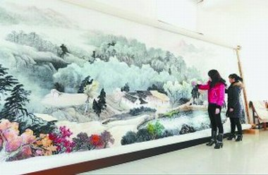 largest xiang embroidery