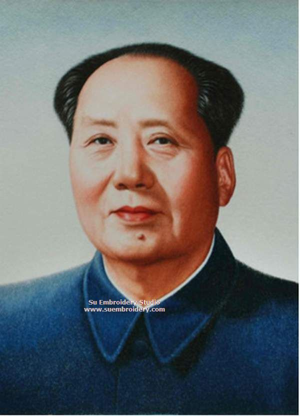portrait of Mao Zedong, embroidery