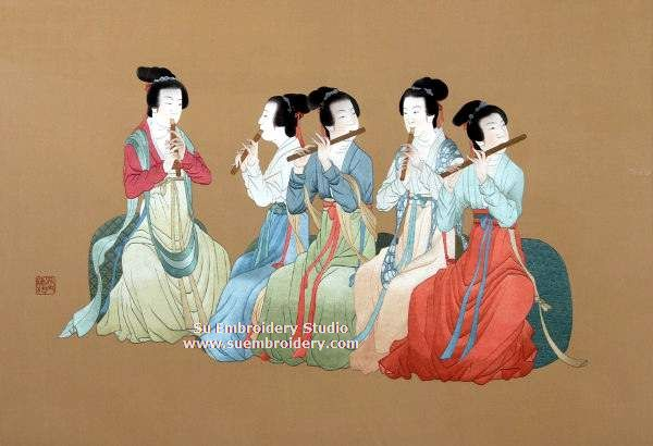 night banquet silk embroidery