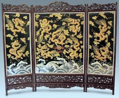 nine dragon embroidery