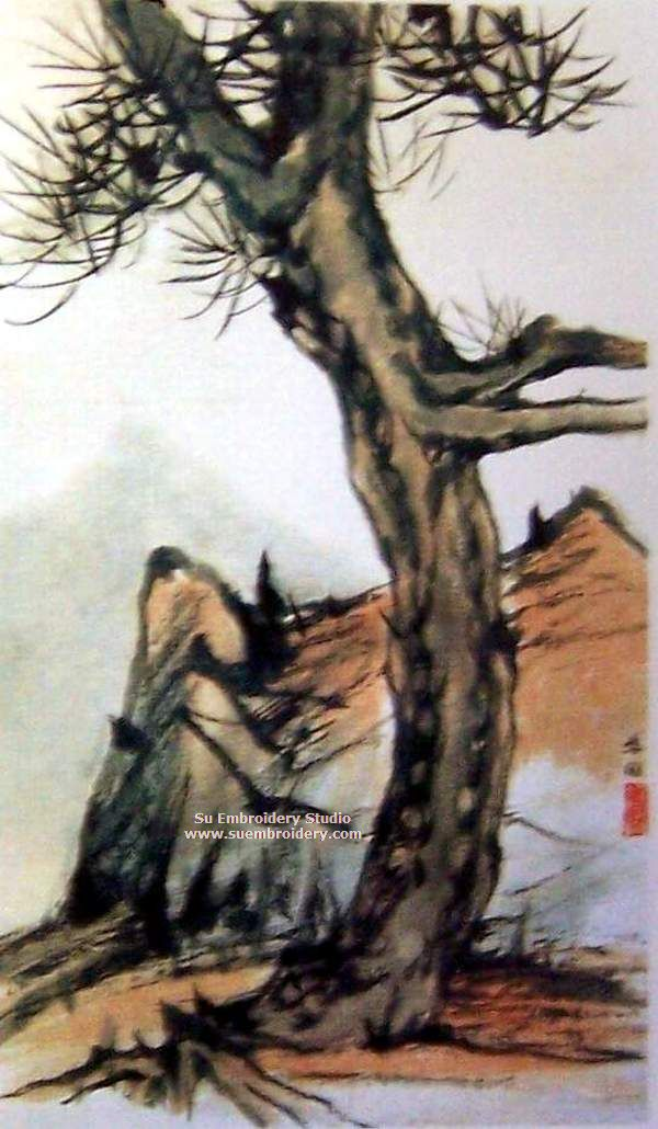 chinese traditional painting embroidery