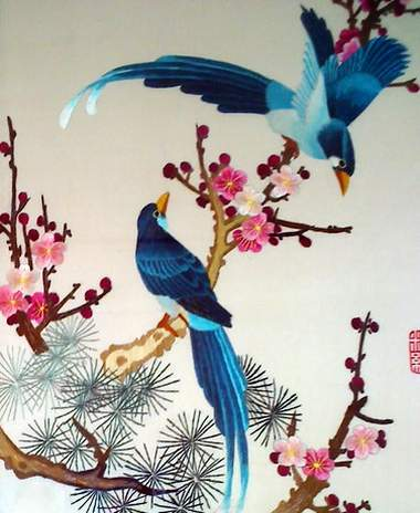 suzhou embroidery magpies