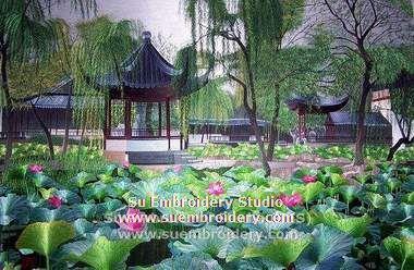 suzhou garden silk embroidery