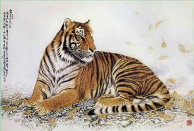 xiang embroidery tiger