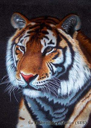embroidery tiger