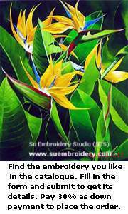 Suzhou silk embroidery Bird of Paradise